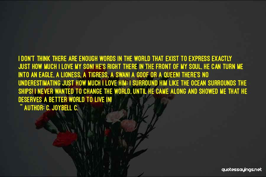 He Deserves Better Quotes By C. JoyBell C.