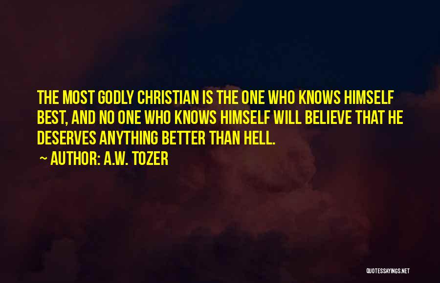 He Deserves Someone Better Quotes By A.W. Tozer