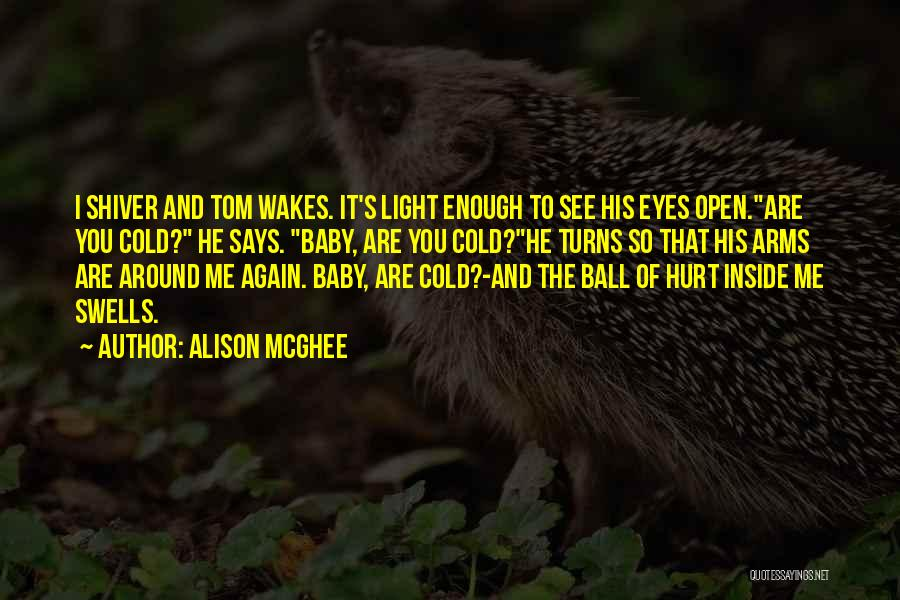 He Hurt Me Again Quotes By Alison McGhee