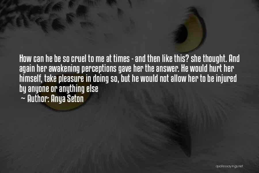 He Hurt Me Again Quotes By Anya Seton