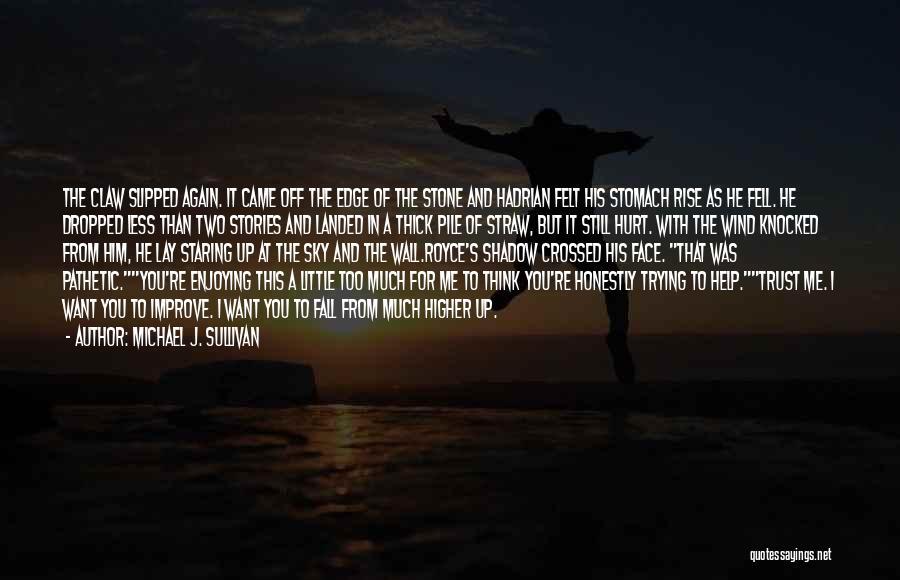 He Hurt Me Again Quotes By Michael J. Sullivan
