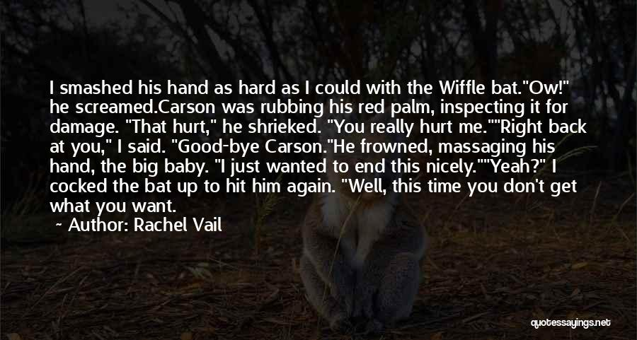 He Hurt Me Again Quotes By Rachel Vail