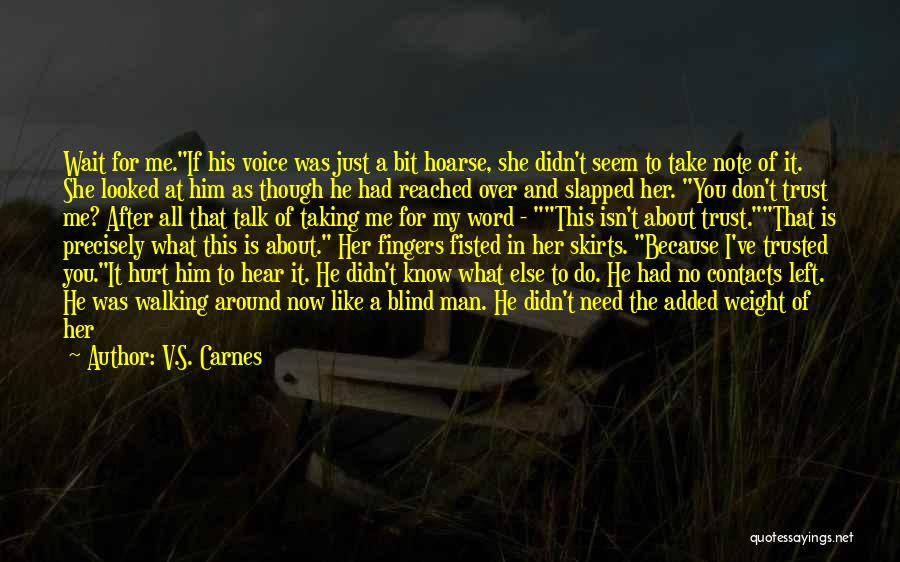 He Hurt Me Again Quotes By V.S. Carnes