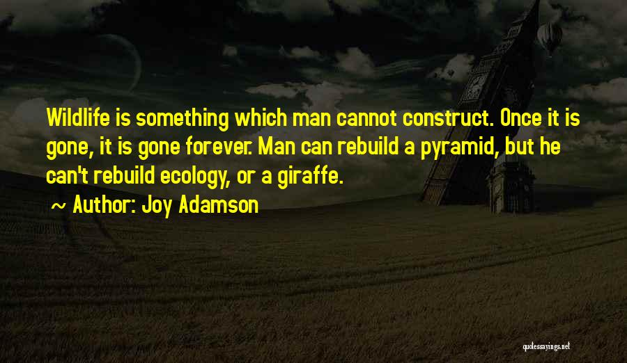 He Is Gone Forever Quotes By Joy Adamson