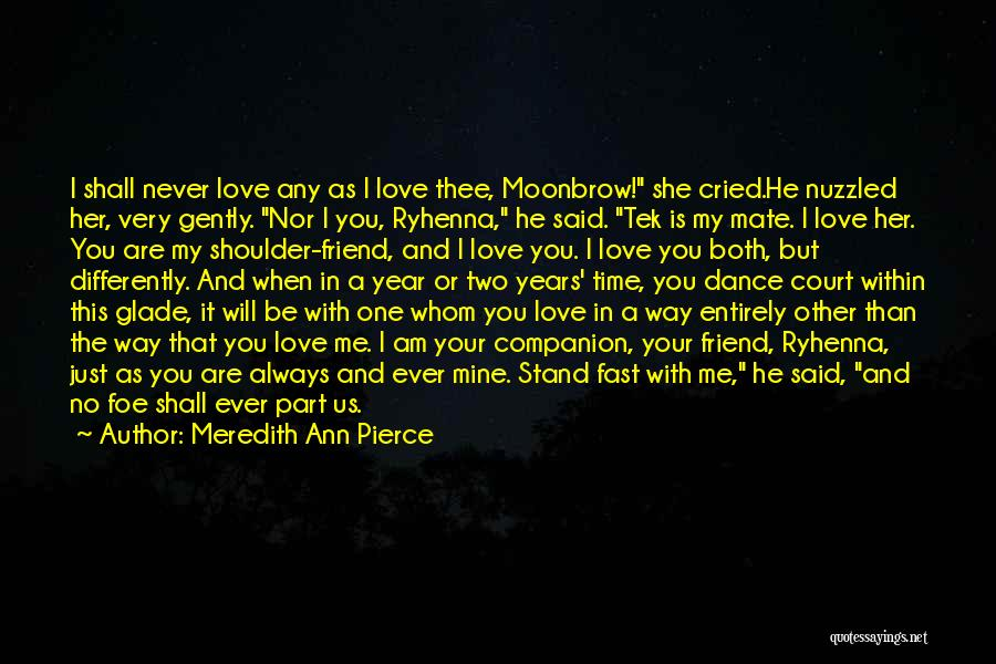 He Is Just Mine Quotes By Meredith Ann Pierce
