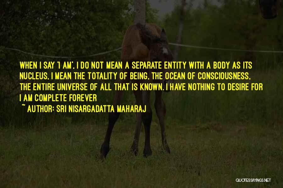 He Is Mine Forever Quotes By Sri Nisargadatta Maharaj