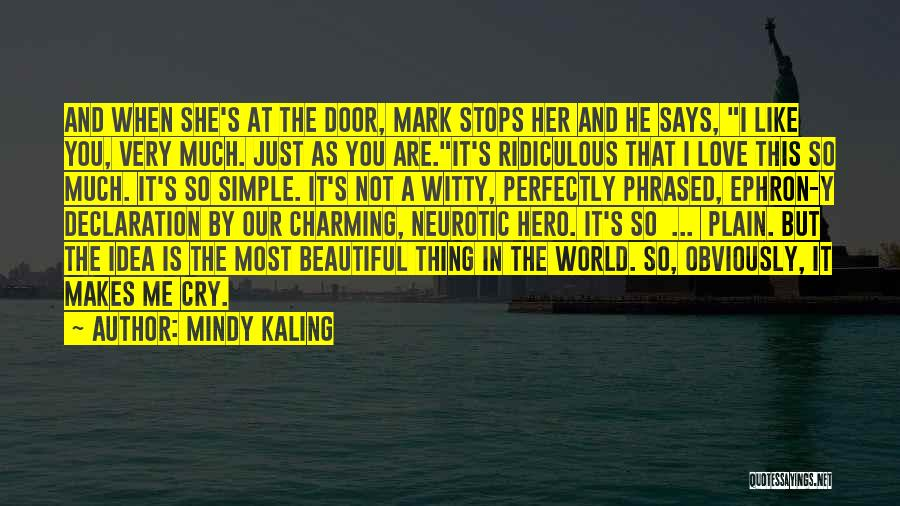 He Says She Says Love Quotes By Mindy Kaling