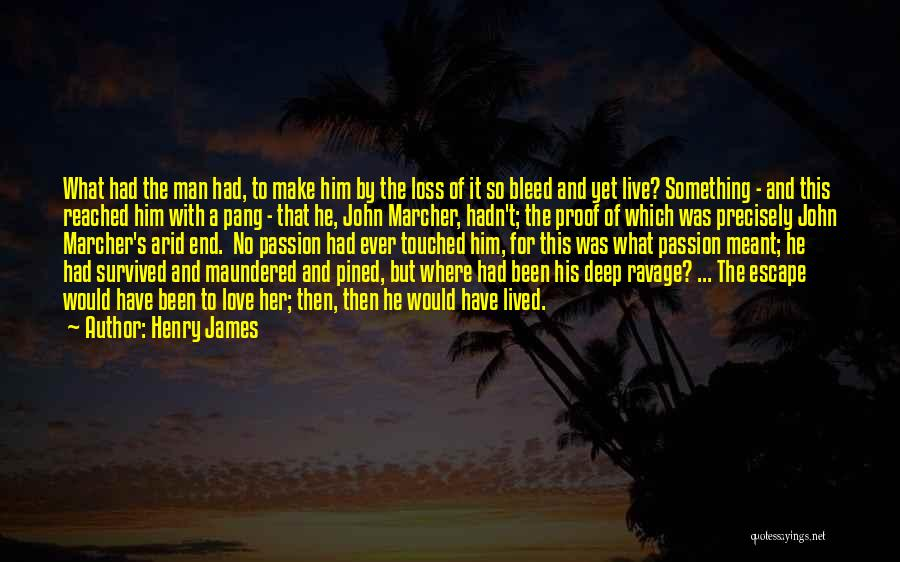 He Survived Quotes By Henry James