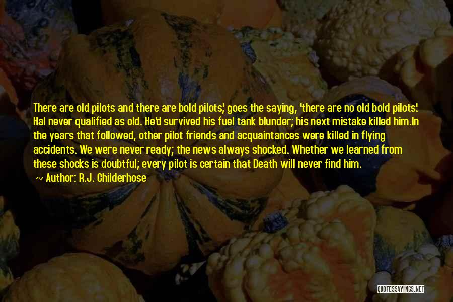 He Survived Quotes By R.J. Childerhose