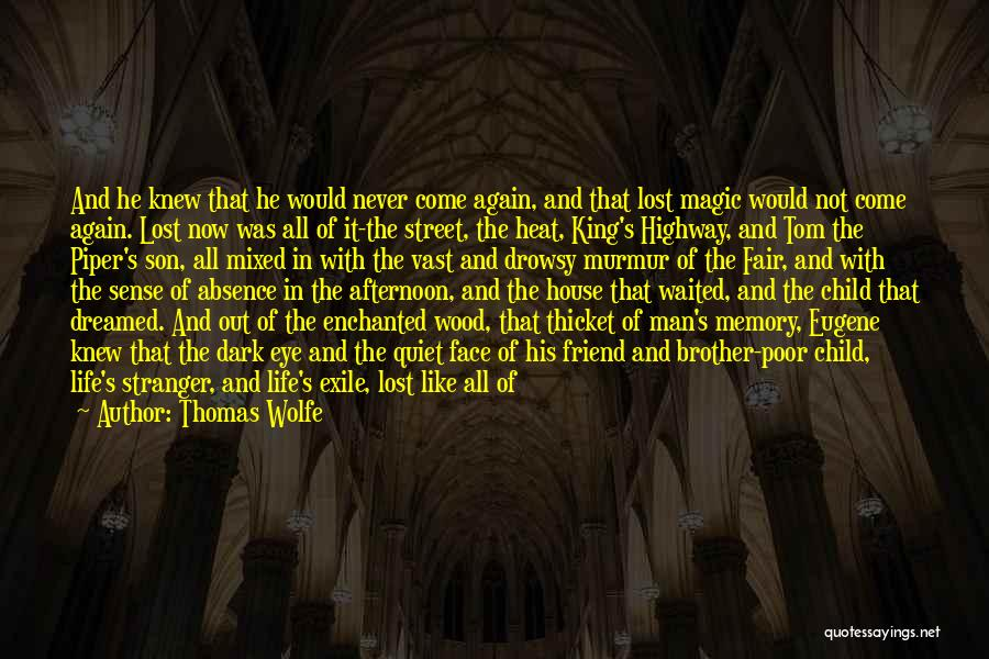 He Waited Quotes By Thomas Wolfe