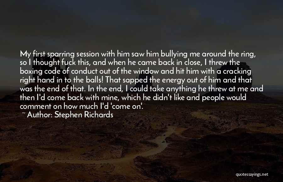 He Was Mine First Quotes By Stephen Richards