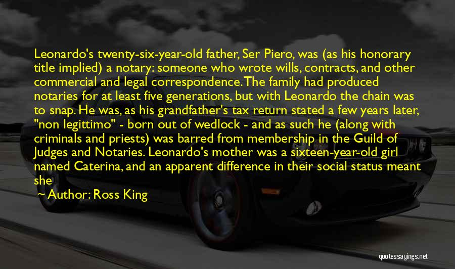 He Who Judges Quotes By Ross King