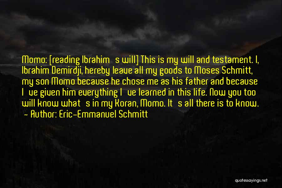 He Will Leave Quotes By Eric-Emmanuel Schmitt