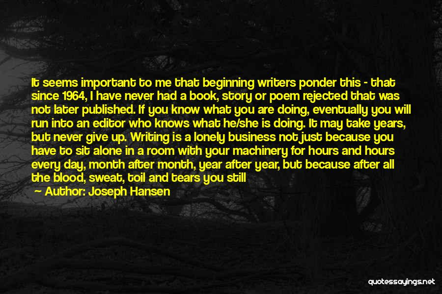 He Will Leave Quotes By Joseph Hansen