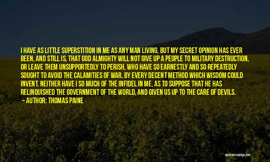 He Will Leave Quotes By Thomas Paine