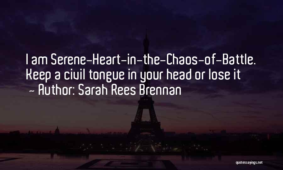 Head And Heart Battle Quotes By Sarah Rees Brennan