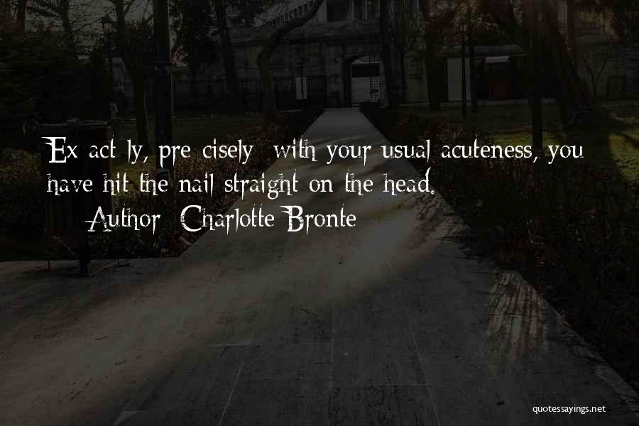 Head On Straight Quotes By Charlotte Bronte