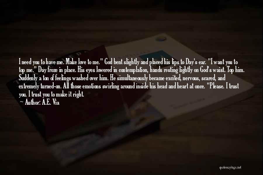 Head Over Heart Quotes By A.E. Via