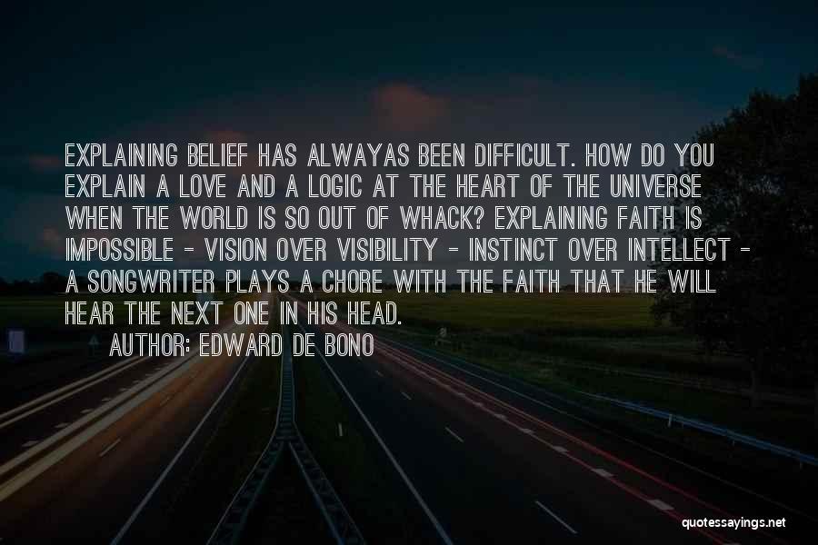 Head Over Heart Quotes By Edward De Bono