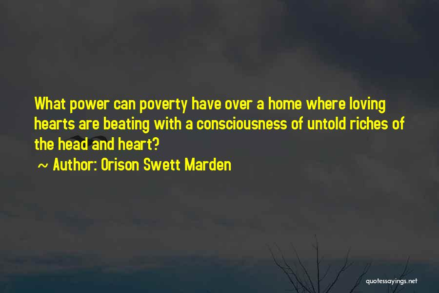 Head Over Heart Quotes By Orison Swett Marden