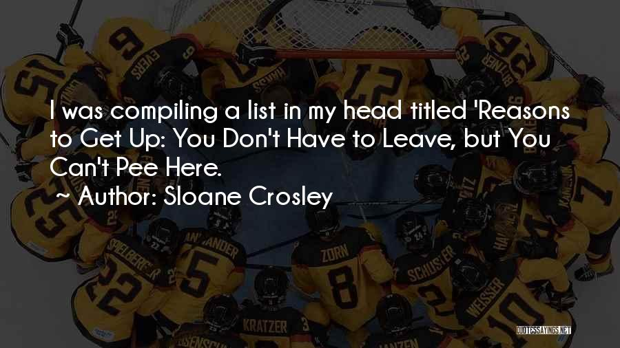 Head Up Quotes By Sloane Crosley