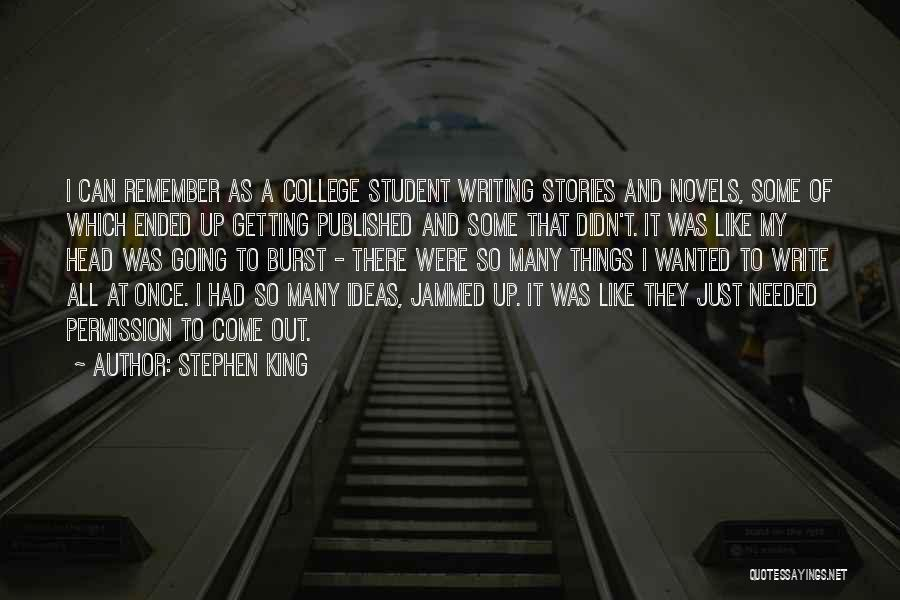 Head Up Quotes By Stephen King