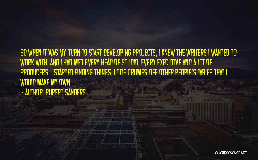 Head Work Quotes By Rupert Sanders