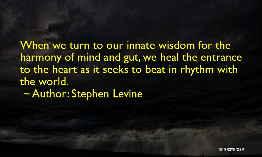 Heal The World Quotes By Stephen Levine