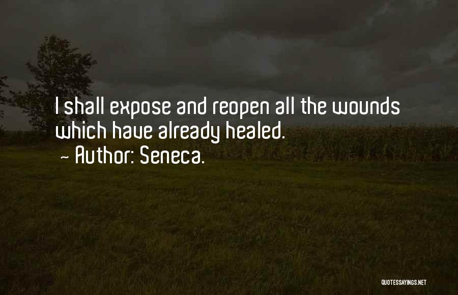 Healed Wounds Quotes By Seneca.