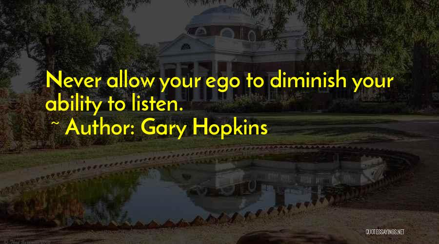 Healing Quotes By Gary Hopkins