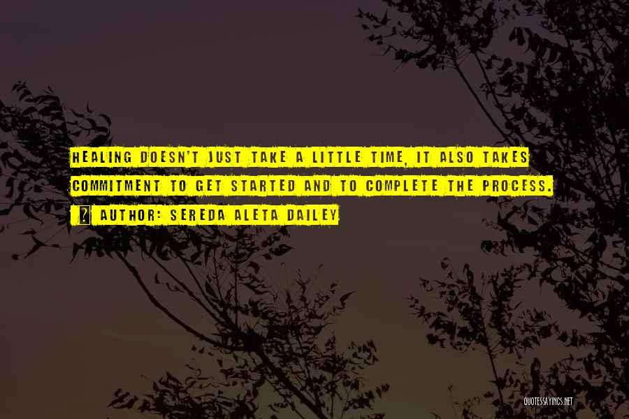 Healing Takes Time Quotes By Sereda Aleta Dailey