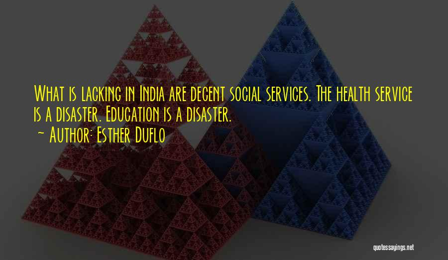 Health Services Quotes By Esther Duflo