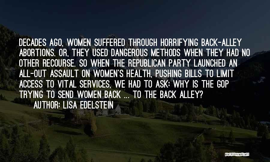 Health Services Quotes By Lisa Edelstein
