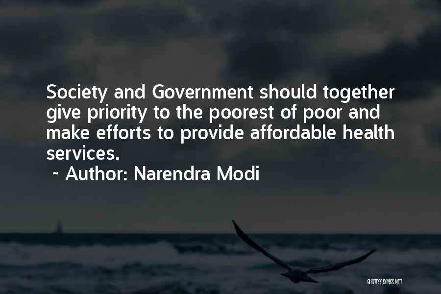 Health Services Quotes By Narendra Modi