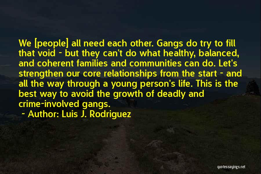 Healthy Communities Quotes By Luis J. Rodriguez