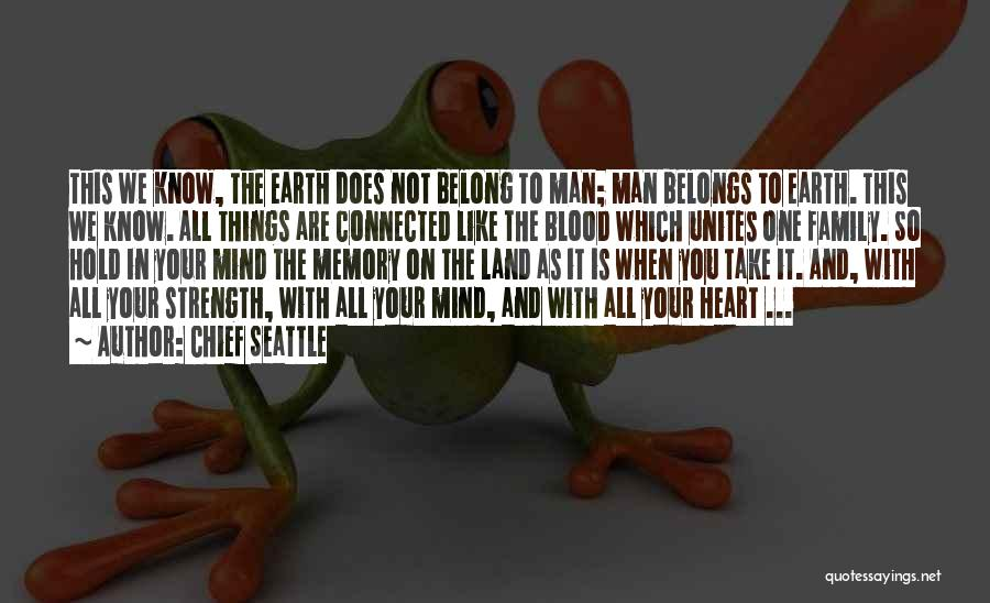 Heart Belongs Quotes By Chief Seattle