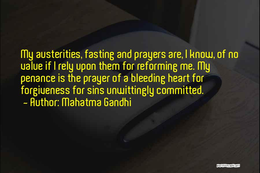 Heart Is Bleeding Quotes By Mahatma Gandhi