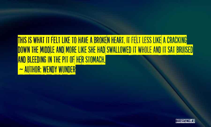Heart Is Bleeding Quotes By Wendy Wunder