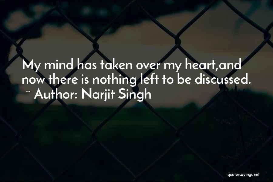 Heart Is Taken Quotes By Narjit Singh