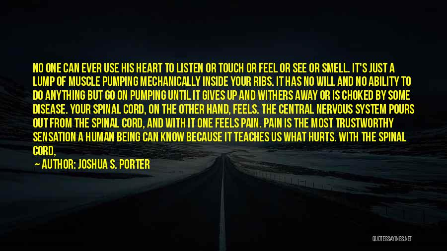 Heart Pain Quotes By Joshua S. Porter