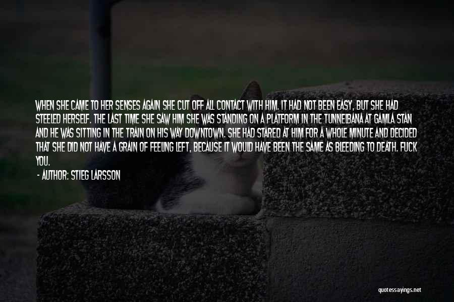 Heartbreak And Death Quotes By Stieg Larsson