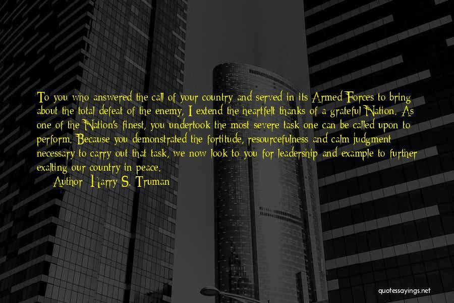 Heartfelt Thanks Quotes By Harry S. Truman