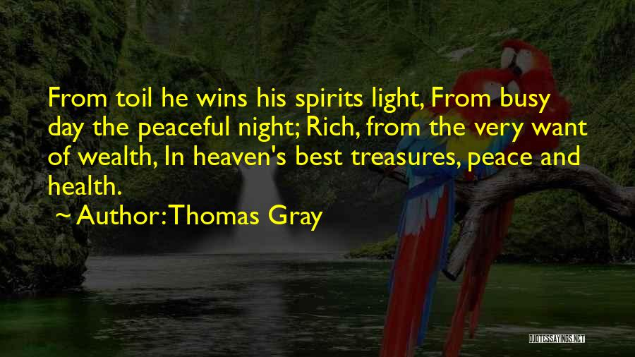 Heaven And Peace Quotes By Thomas Gray