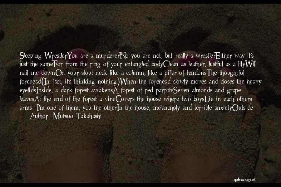 Heavy Eyelids Quotes By Mutsuo Takahashi