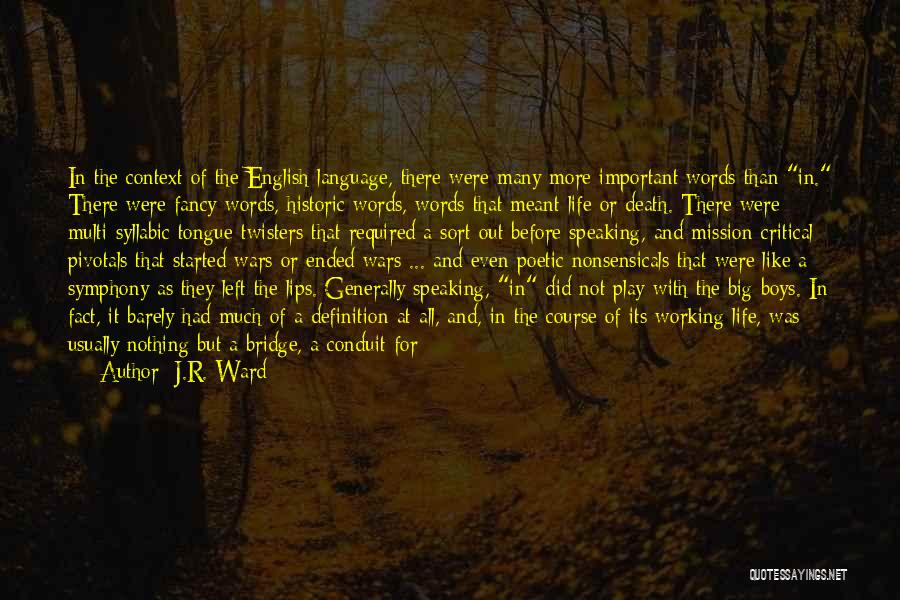 Heavy Head Quotes By J.R. Ward