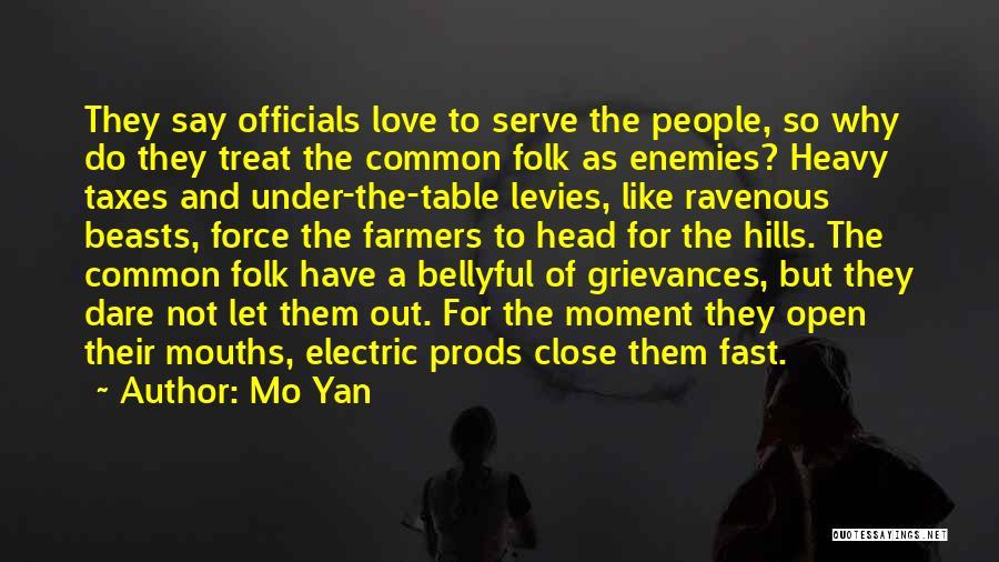 Heavy Head Quotes By Mo Yan