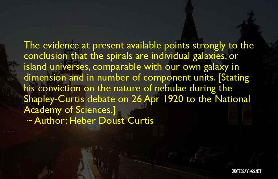 Heber Doust Curtis Quotes 793833