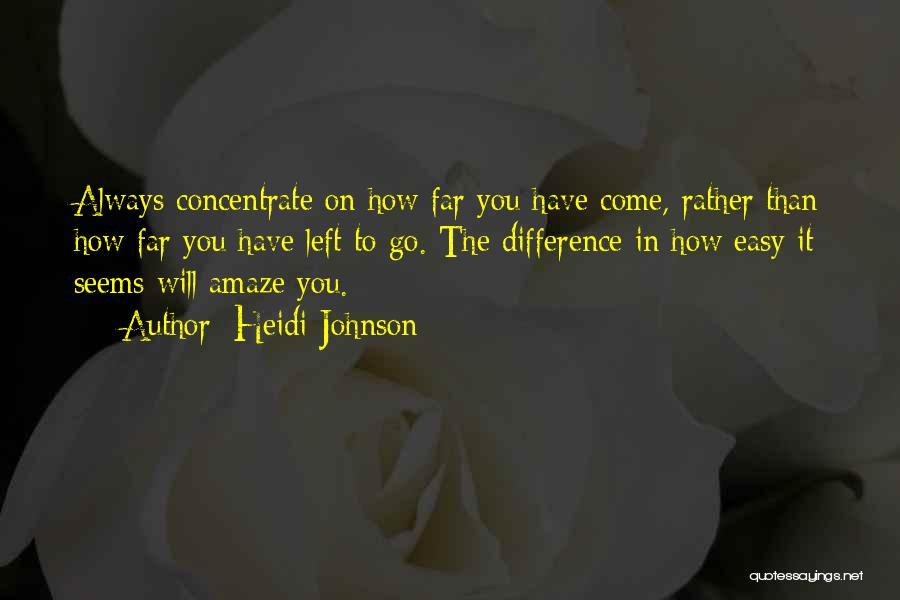 Heidi Johnson Quotes 423155