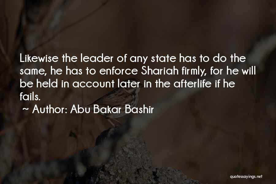 Held Quotes By Abu Bakar Bashir