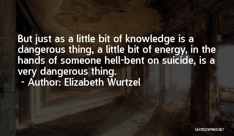 Hell Bent Quotes By Elizabeth Wurtzel